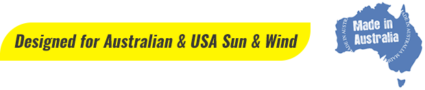 DESIGNED FOR AUSRALIAN & USA SUN & WIND