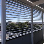 External Venetian Blinds H3 white balcony 2