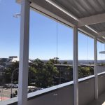 External Venetian Blinds H3 W white Balcony 1